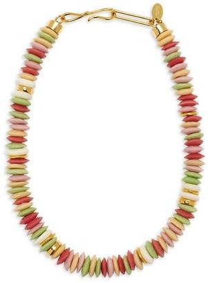 Lizzie Fortunato Laguna Recycled Glass & Bone Beaded Necklace