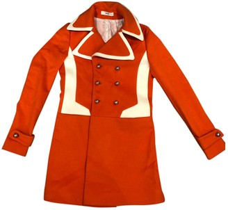 Bally Orange Wool Coats
