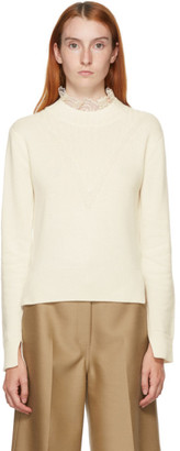 See by Chloe Off-White Fitted Lace Collar Sweater