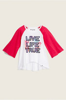 True Religion Toddler/Little Kids Drape Baseball Tee