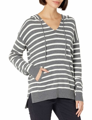 Daily Ritual Amazon Brand Women's Ultra-Soft Milano Stitch Drawstring Hoodie Sweater