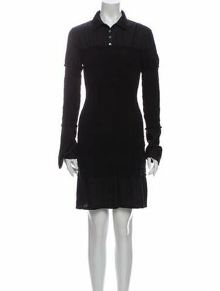 Opening Ceremony Silk Knee-Length Dress Black