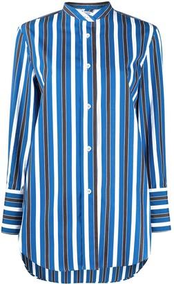 Aspesi striped mandarin collar shirt
