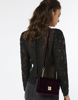 Monsoon Vivian Velvet Clutch Bag