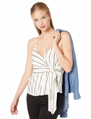 J.o.a. Women's Sleeveless Tie Detail Cami Tank Top
