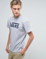 Vans Classic T-shirt In Grey V00gggkoo