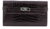 Hermes Pre-owned: Kelly Wallet Shiny Alligator Long.