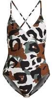Norma Kamali Camo-print swimsuit