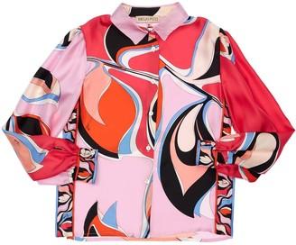 Emilio Pucci Eliconia Printed Silk Satin Shirt