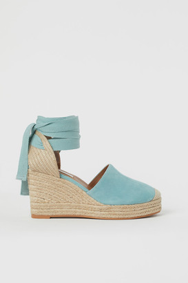 H&M Suede wedge-heeled sandals
