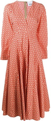 Erika Cavallini Long Printed Dress