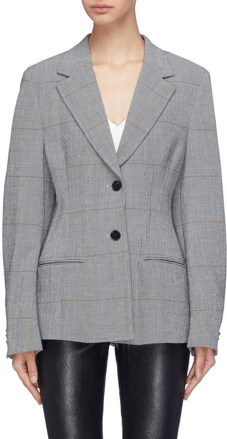 3.1 Phillip Lim Houndstooth check plaid wool blend blazer
