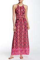 London Times Ikat Cutaway Maxi Dress (Petite)