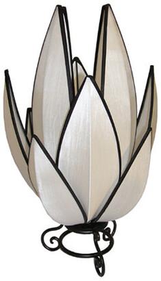 Rovan Artichoke Small Table Lamp White