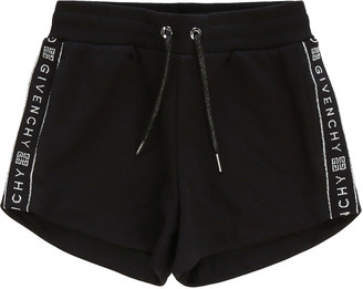 Givenchy Girl's Logo-Tape Drawstring Shorts, Size 12-14