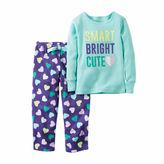 Carter's Girls Long Sleeve Kids Pajama Set-Toddler