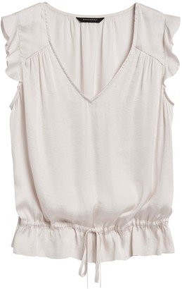 Banana Republic Soft Satin Ruffle Top