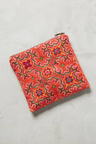 MOMO Design Thinking Pink Embroidered Pouch