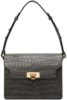 Marge Sherwood Grey Croc Vintage Brick Bag