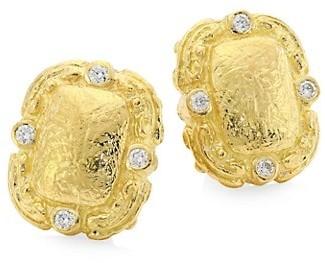 Katy Briscoe Coskey's Column Medium 18K Yellow Gold Diamond Clip-On Earrings