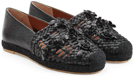 Valentino Woven Leather Loafers