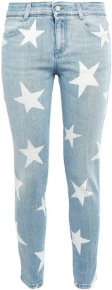 Stella McCartney Printed Low-rise Skinny Jeans