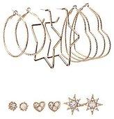 Charlotte Russe Embellished Hoop & Stud Earrings - 6 Pack
