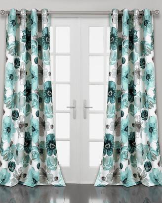 Triangle Home Fashion Leah Room Darkening Window Curtain Panels