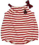Gucci Striped Print Cotton Jersey Romper