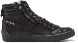 Diesel Black D-String Plus High-Top Sneakers