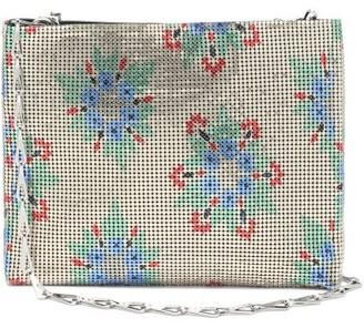 Paco Rabanne Pixel Floral-print Chainmail Shoulder Bag - Gold Multi