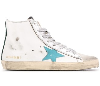 Golden Goose Distressed High Top Sneakers