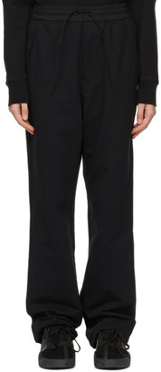 Y-3 Black Terry Wide Leg Lounge Pants