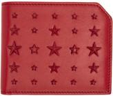 Jimmy Choo Red Mixed Stars Albany Wallet