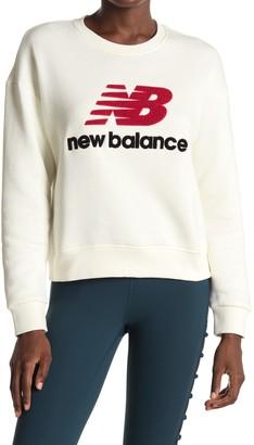 New Balance Logo Patch Stadium Crew Neck Sweatshirt