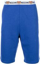 Moschino bear logo band sweat shorts