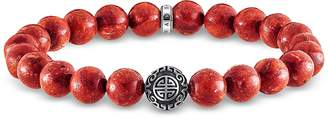 Thomas Sabo Ethnic Red Sterling Silver and Coral Beads Bracelet
