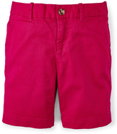 Ralph Lauren Sport Pink Stretch Chino Bermuda Shorts - Toddler & Girls