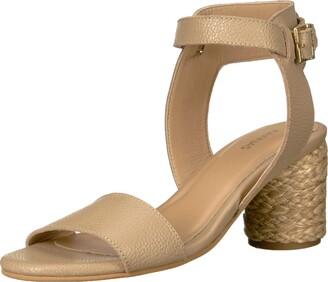 Kaanas Women's TENEDOS Low Heel Ankle Strap Open Toe Sandal Shoe Heeled
