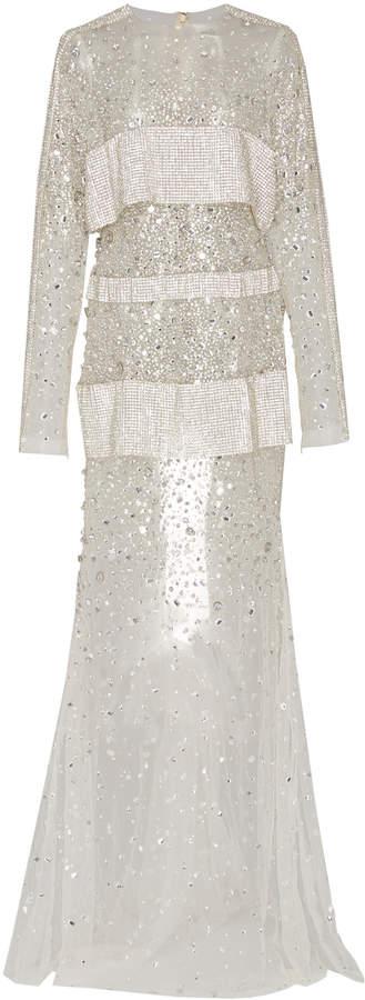 Christian Siriano Crystal Embellished Chiffon Gown