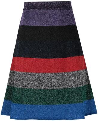 Victoria Beckham Lurex Striped Mini Skirt