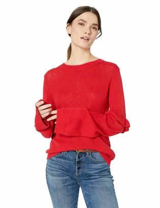 The Fifth Label Women's Juno Ruffle Sleeve Lightweight Soft Sweater