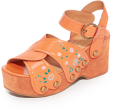 Marc Jacobs Wildflower Wedge Sandals