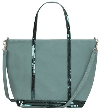 Vanessa Bruno Small Canvas And Sequins Cabas Tote Bag With Detachable Strap