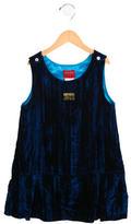 Kenzo Girls' Velvet Drop Waist Dress