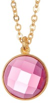 Melinda Maria Hunter Pink Tourmaline Pendant Necklace