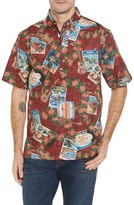 Reyn Spooner Men's Hawaiian Christmas 2017 Sport Shirt