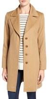Fleurette Women's Notch Collar Lightweight Cashmere Coat