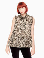 Kate Spade Leopard-print clipped dot top