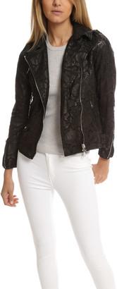Giorgio Brato Lace Leather Jacket